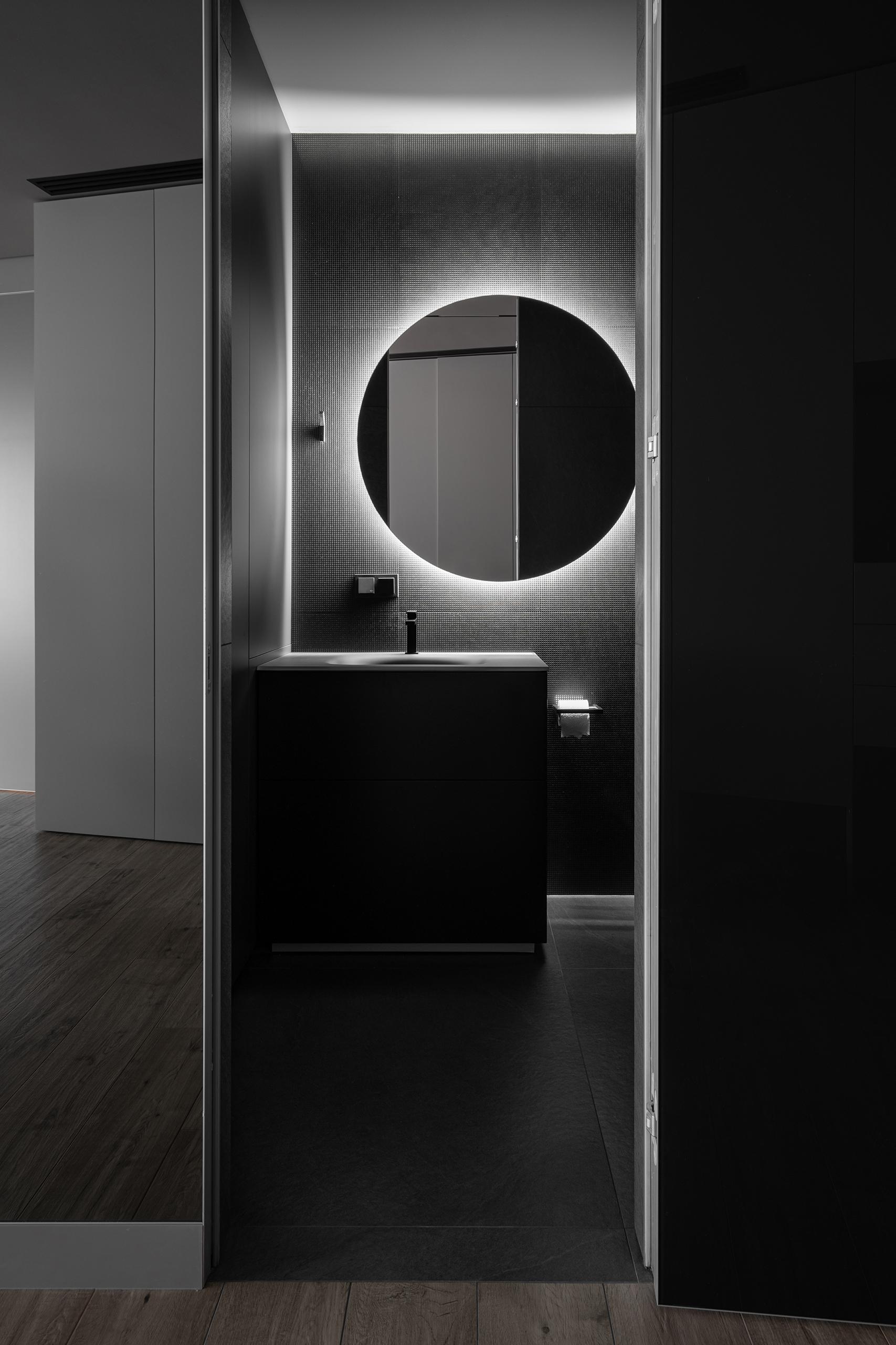 Интерьерная фотосъемка санузла в элитной квартире