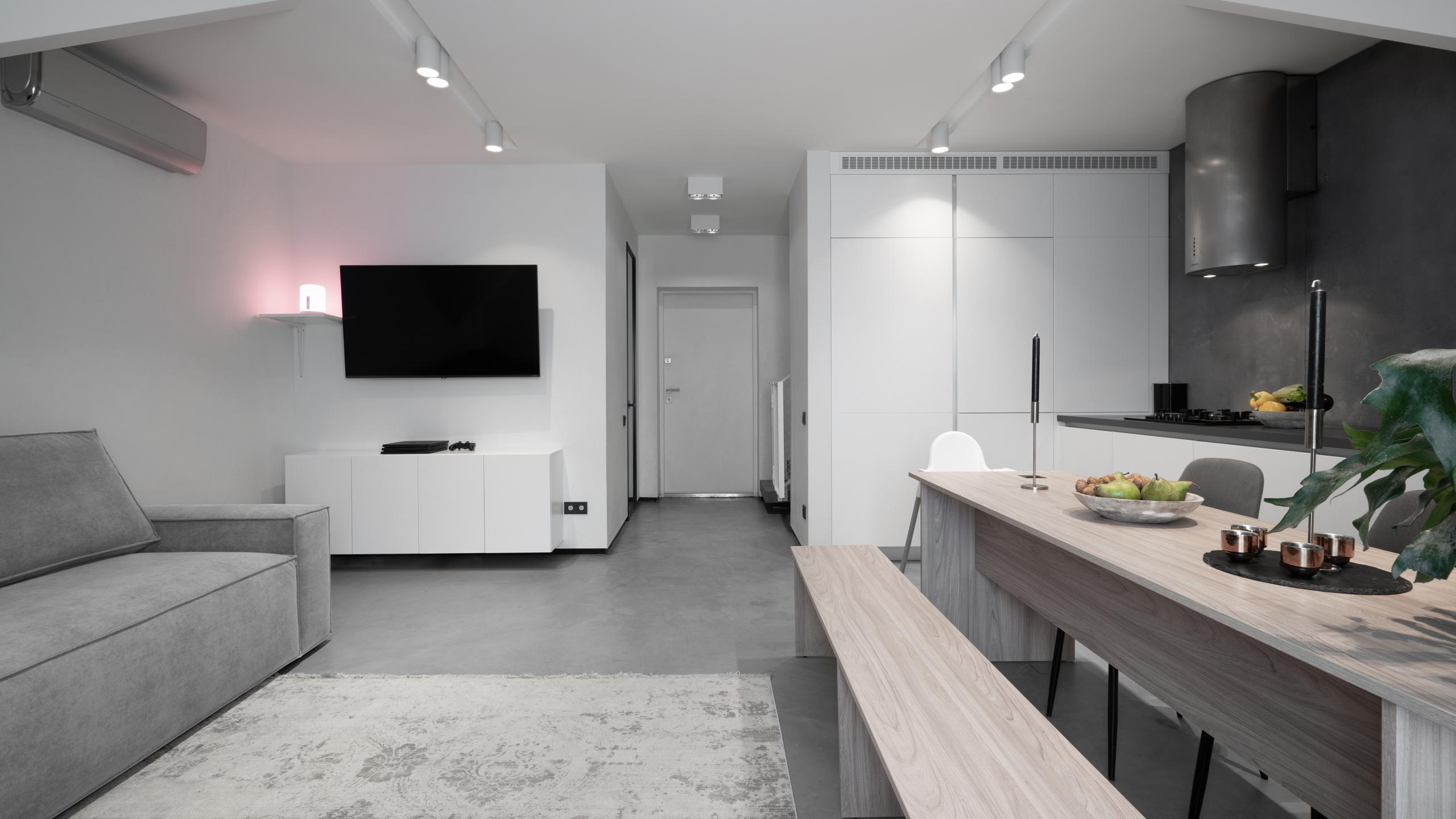 Фотосъемка дизайна интерьера гостиной и прихожей