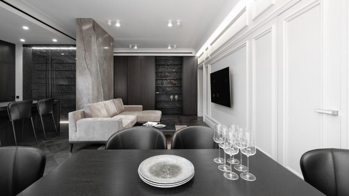 Фотосъемка интерьера гостиной в квартире