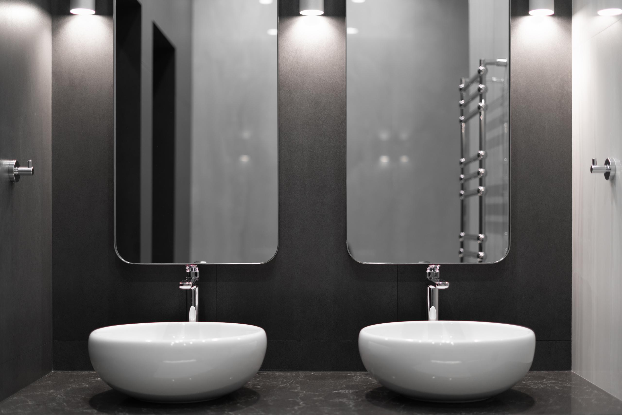 Фотосъемка интерьера ванной комнаты в квартире