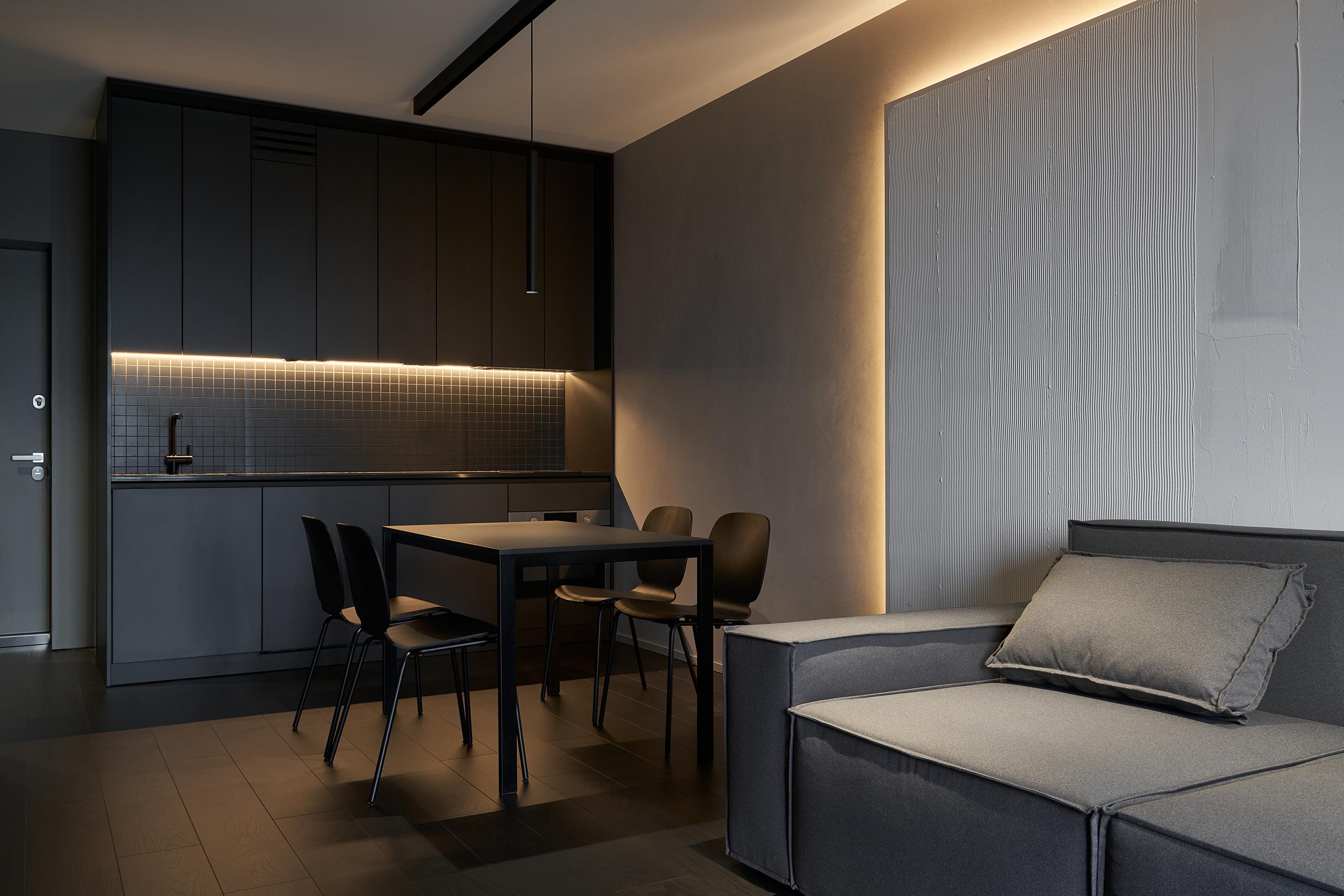 Фотосъемка интерьера кухни и гостиной Hoffman